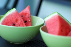 Watermelon in bowl for morning sickness relief