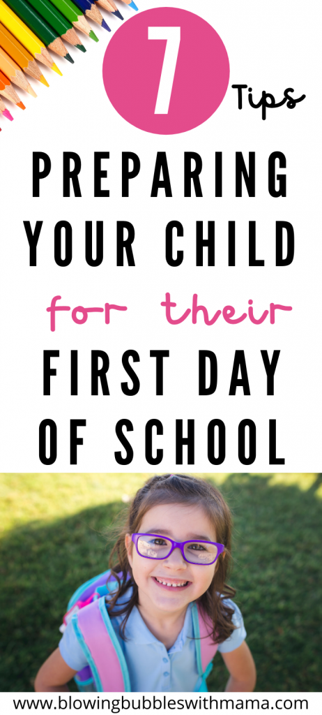Preparing Your Child for their First Day of School