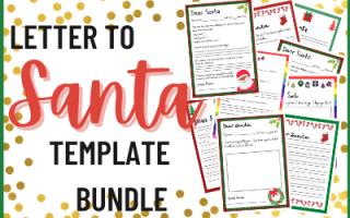 Letter to Santa Template Bundle